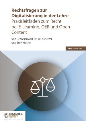 Voransicht des Leitfadens von Dr. Till Kreutzer und Tom Hirche: Rechtsfragen zur Digitalisierung in der Lehre